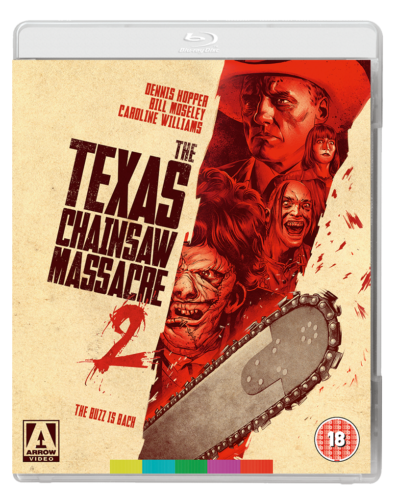 TEXAS CHAINSAW 2 2D BD Arrow announce August 17 releases